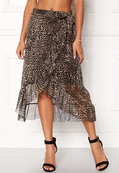 Pieces Lulu Medi Mesh Skirt Black Bubbleroom.no