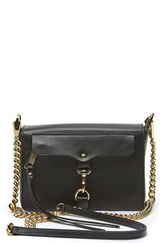 Rebecca Minkoff Mab Flap Crossbody Bag 001 Black/Light Gold Bubbleroom.no