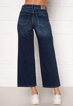 ONLY Madison HI Life Wide Crop Jeans Dark Denim Blue Bubbleroom.no
