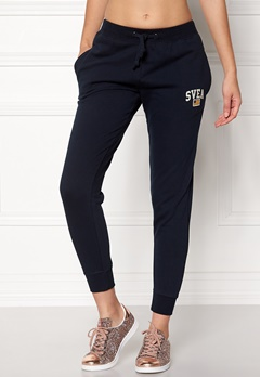 Svea Maj Sweat Pants 600 Navy Bubbleroom.no