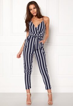 Make Way Aleena jumpsuit White / Blue / Striped Bubbleroom.no