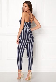 Make Way Aleena jumpsuit White / Blue / Striped Bubbleroom.no