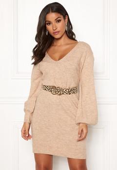 Make Way Alma knitted dress Beige Bubbleroom.no