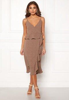 Make Way Analisa dress Brown / White / Dotted Bubbleroom.no