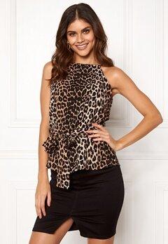 Make Way Bessie tie top Leopard Bubbleroom.no