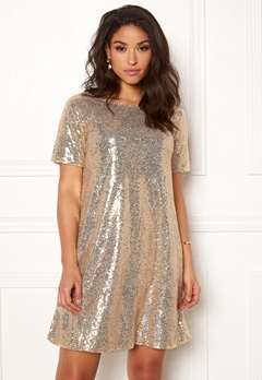 Make Way Blair sequins dress Gold Bubbleroom.no