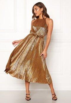 Make Way Calista pleated dress Bronze Bubbleroom.no