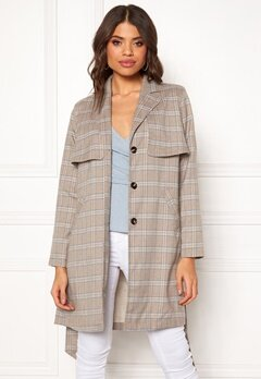 Make Way Cassidy Coat Beige / Checked Bubbleroom.no