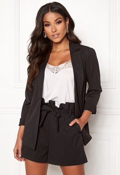 Make Way Disa soft blazer Black / Striped Bubbleroom.no