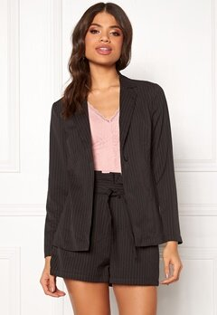 Make Way Disa soft blazer Black / White / Striped Bubbleroom.no