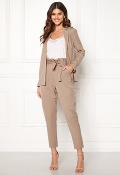 Make Way Disa trousers Beige / Striped Bubbleroom.no