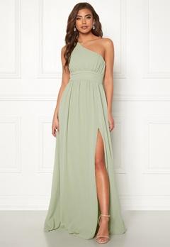Make Way Ellamae one shoulder gown Dusty green Bubbleroom.no