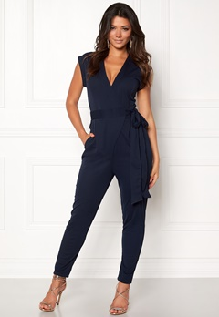 Make Way Elle Jumpsuit Midnight blue Bubbleroom.no