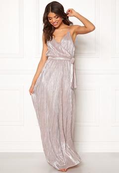 Make Way Elsa pleated lurex dress Pink / Silver Bubbleroom.no