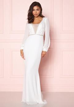 Make Way Emeline gown White Bubbleroom.no