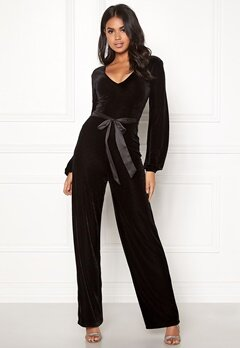 Make Way Farah velvet jumpsuit Black Bubbleroom.no
