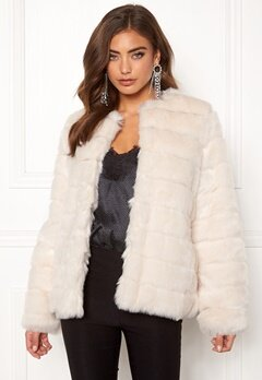 Make Way Freia faux fur jacket Cream Bubbleroom.no