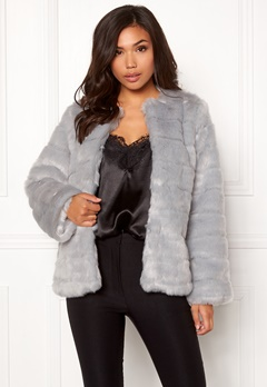 Make Way Freia faux fur jacket Light grey Bubbleroom.no