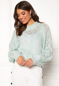 Make Way Jade knitted sweater Light mint Bubbleroom.no