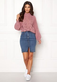 Make Way Jade knitted sweater Dusty pink Bubbleroom.no