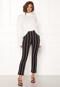 Make Way Joline trousers Black / Striped Bubbleroom.no