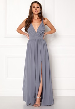 Make Way Jonna Maxi Dress Dusty blue Bubbleroom.no