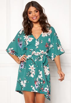 Make Way Karmen kimono dress Green / Floral Bubbleroom.no