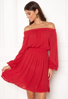 Make Way Krista offshoulder dress Red Bubbleroom.no
