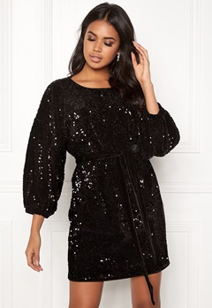 Make Way Lettie sequin dress Black Bubbleroom.no