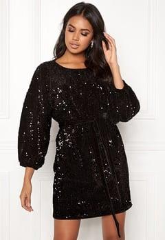 Make Way Lettie sequin dress Black Bubbleroom.no