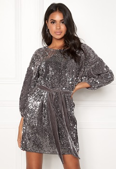 Make Way Lettie sequin dress Grey Bubbleroom.no