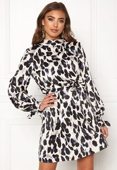 Make Way Linsley dress Black / Leopard Bubbleroom.no