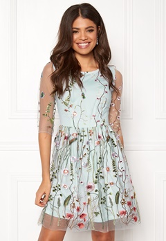 Make Way Meadow Dress Dusty blue / Patterned Bubbleroom.no