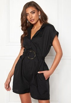 Make Way Mileika playsuit Black Bubbleroom.no