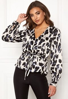 Make Way Miriam blouse Black / Leopard Bubbleroom.no