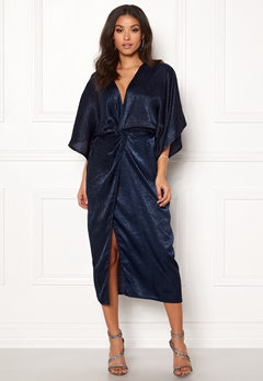 Make Way Nikki kimono dress Navy Bubbleroom.no