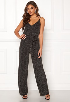 Make Way Ohannah sparkling jumpsuit Black / Silver Bubbleroom.no