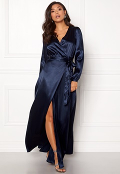 Make Way Ophelia wrapped maxi dress Dark blue Bubbleroom.no