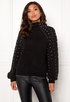 Make Way Pearlie knitted sweater Black Bubbleroom.no