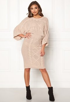 Make Way Rania knitted skirt Beige Bubbleroom.no