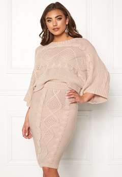 Make Way Rania knitted sweater Beige Bubbleroom.no