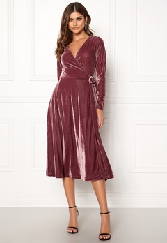 Make Way Ronja midi dress Dusty pink Bubbleroom.no