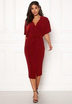 BUBBLEROOM Selena sparkling dress Red / Red Bubbleroom.no