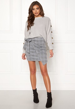 Make Way Sherida skirt Grey / Checked / Blue Bubbleroom.no