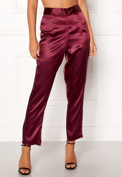 Make Way Tomika trousers Wine-red Bubbleroom.no