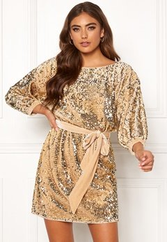 Make Way Lettina sequin dress Gold-coloured Bubbleroom.no