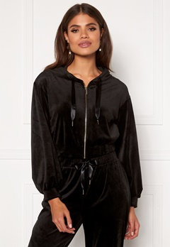 Martine Lunde X Bubbleroom Cozy velvet hoodie Black Bubbleroom.no