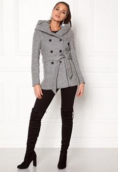 ONLY mary lisa short wool coat Light Grey Melange Bubbleroom.no