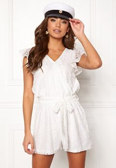 DRY LAKE Megan Playsuit White Lace Bubbleroom.no