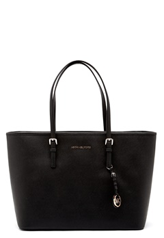 Michael Michael Kors Jet Set Travel Mid Tote Black Bubbleroom.no